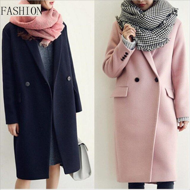 New Winter Coat Women Fashion 2016 Han Edition High-end Quality Wool Coat Type Long  Thick Cocoon Cashmere Woolen Cloth Coat