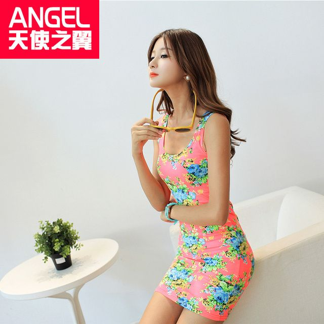 Summer Spring brand new designer sexy 2016 Sleeveless O-neck Floral Above-knee Length Short Bodycon Womens Print Tank Dress Sale