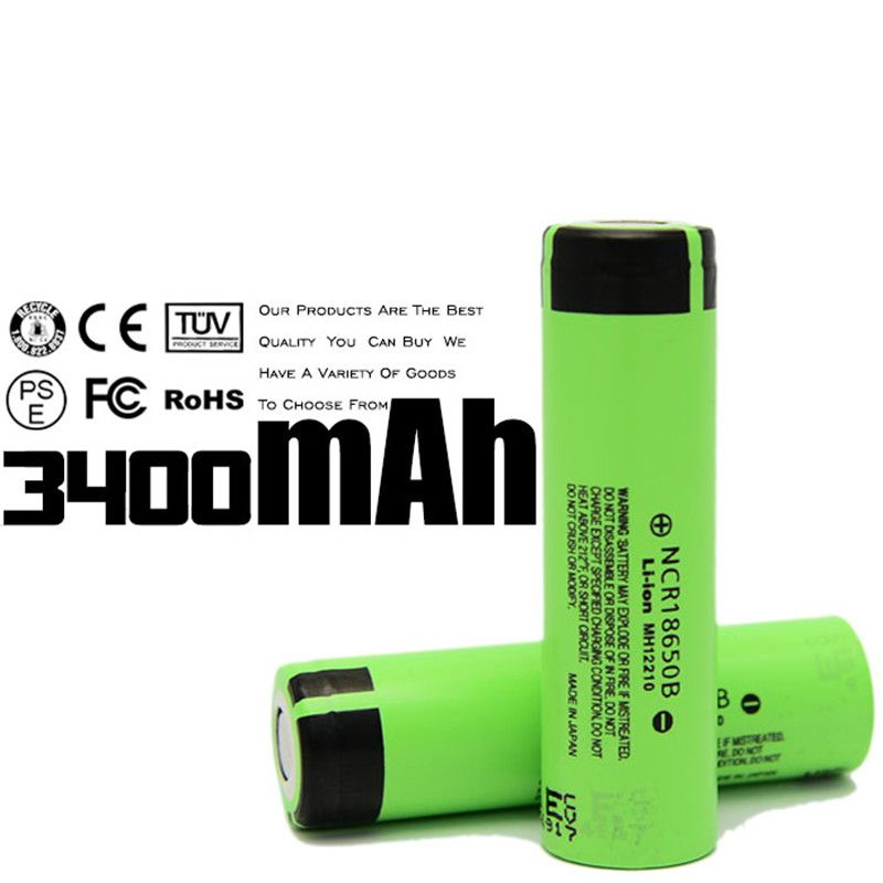 4PCS 100% Original KingWei 3400mAh 18650 Rechargeable Battery 3.7v Li-ion Batteries For Panasonic NCR18650B