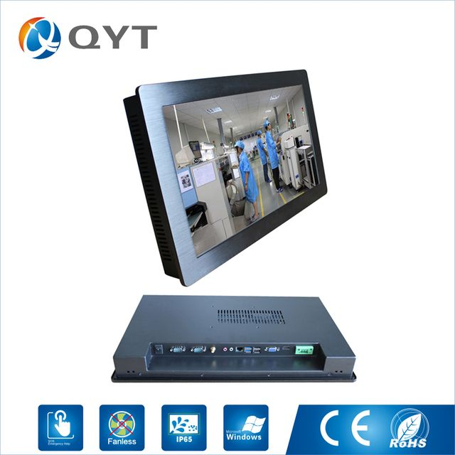 "24 "" Industrial Touch Screen pc Computer /Capacitive Touch Resolution 1920x1080 I5 CPU 3.2GHz all in one PC with 4GB RAM 64G SSD"