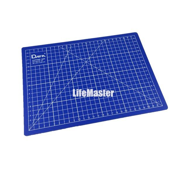 LifeMaster DAFA A4 30*22*0.22cm Cutting Mat/Craft Board/ Both Side Usable Non Slip Self-Healing Mat with Grid