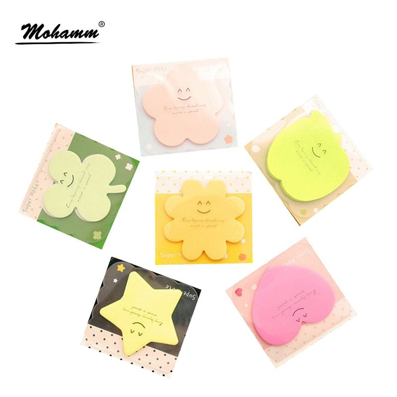 2 Pcs/lot Cute Korean Kawaii Star Apple  Planner Stickers Memo Pad Sticky Notes Pads Stationery School Office Supplies