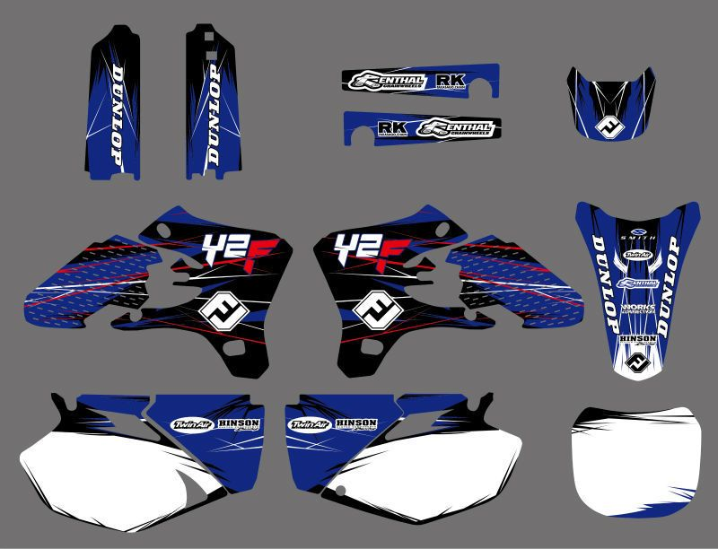 Motorcycle TEAM GRAPHICS DECALS STICKERS Kits for YAMAHA YZ250F YZ450F YZF250 YZF450 2003-2005 YZF 250 450 YZ 250F 450F