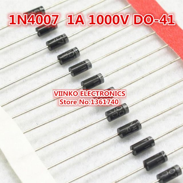 Free shipping 1000PCS 1N4007 4007 1A 1000V DO-41 High quality Rectifier Diode