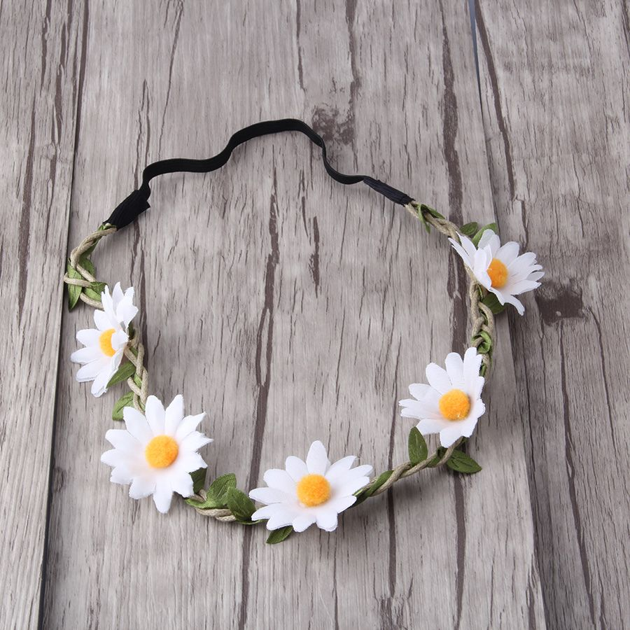 M MISM Women Girls Floral Headband Bohemia Hair Band Flower Garland Wedding Prom Head wrap Hair Accessories Elastic Hairbands
