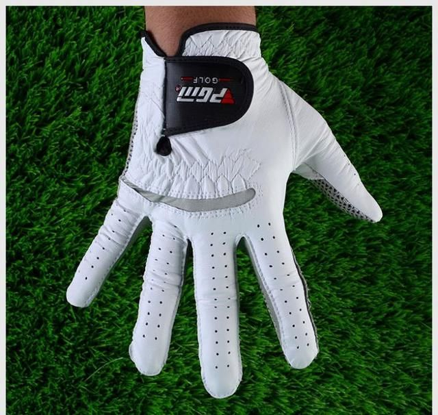 2017 free shipping golf gloves men white gloves male sheepskin slip-resistant golf gloves men leather brand name