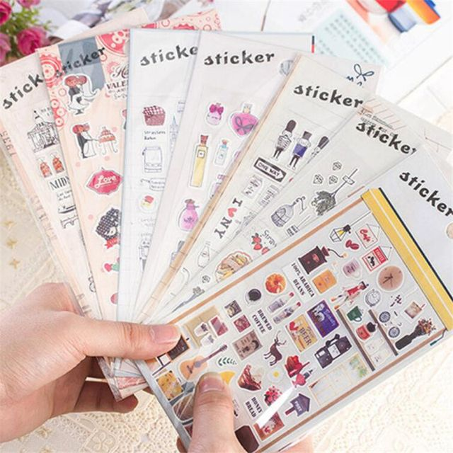 DIY Cute Kawaii Perfume PET Stickers Vintage Tower Sticky Paper For Home Decoration Scrapbooking Student 1060