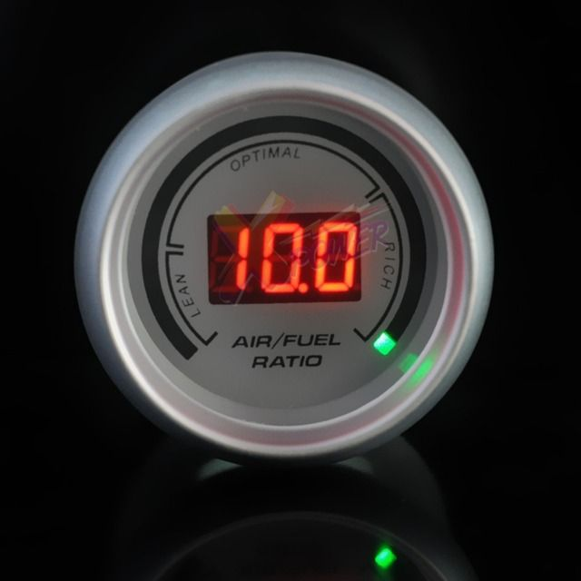 "Xpower-White Auto Car 2"" 52mm Air / Fuel Ratio Red Digital Color 20 LED Gauge Meter NEW"