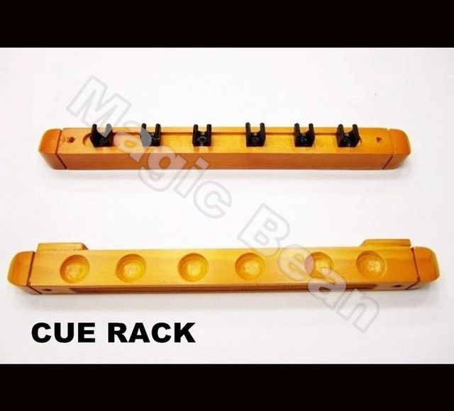 Free Shipping; 2PCS Billiard Cue Wall Rack; 6 hold Wood Pool; Billiard snooker table wooden cue rack