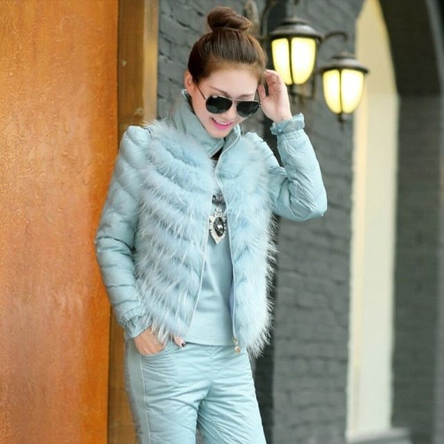 2015 New Fashion Women Winter Suit Stand collar Cotton Trousers Vest Three-piece Suit Leisure Elegant Women Slim Suits G1810