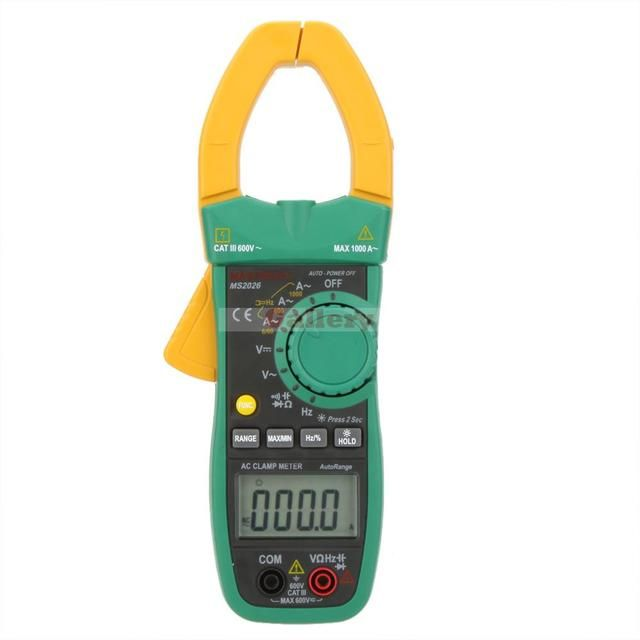 Ms2026 Auto Range Digital Ac Current Clamp Meter Ammeter Voltmeter Ohmmeter W Capacitance & Frequency Test Clamp Meter