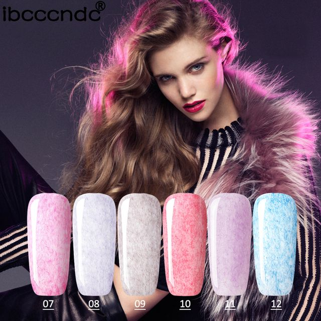 3ML Faux Fur Effect Gel Nail Polish UV LED Gel Soak Off Vernis Semi Permanent Lacquer Lak UV Base Top Coat Needed for Nail Art