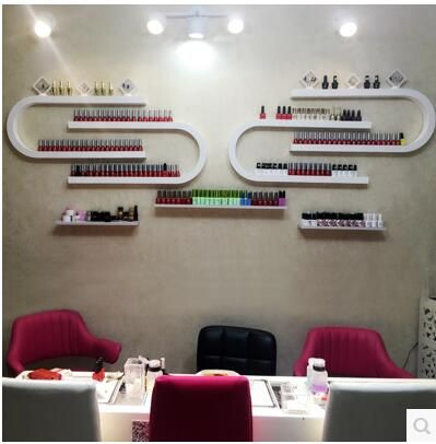 U-nail nail polish display is a DIY combination of cosmetic nail rack wall hanging lipstick