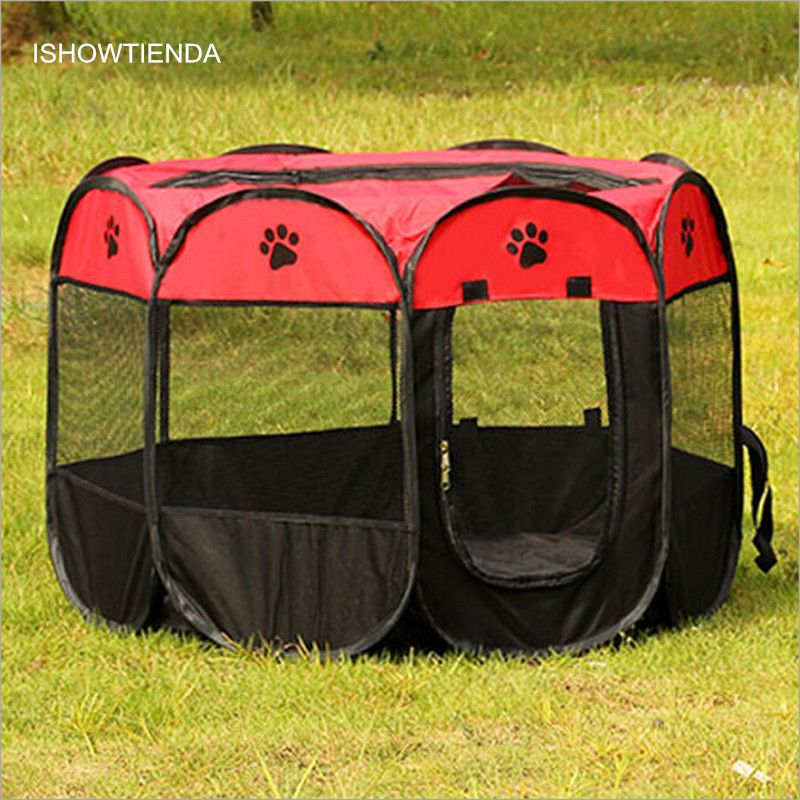 New Hot New High-quality Ultra-durable Uper Breathable 8 Sides Pet Dog Cat Campi Tent Outdoor Fence Portable Foldable Pop Up