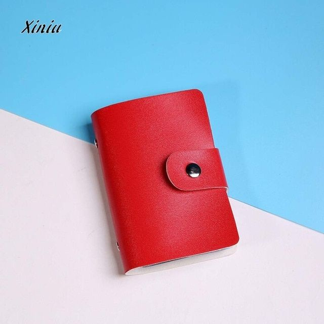 UST SUPER 2018  New Men's Women Leather Credit Card Holder/Case Card Holder Wallet Business Card Package PU Leather Bag