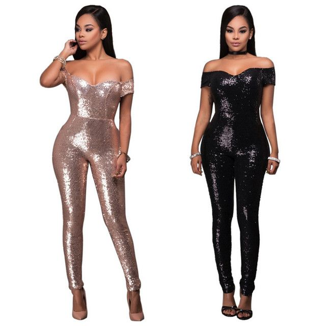 New arrival women jumsuits & rompers sexy club sequined fashion women jumpers European and American style hot selling
