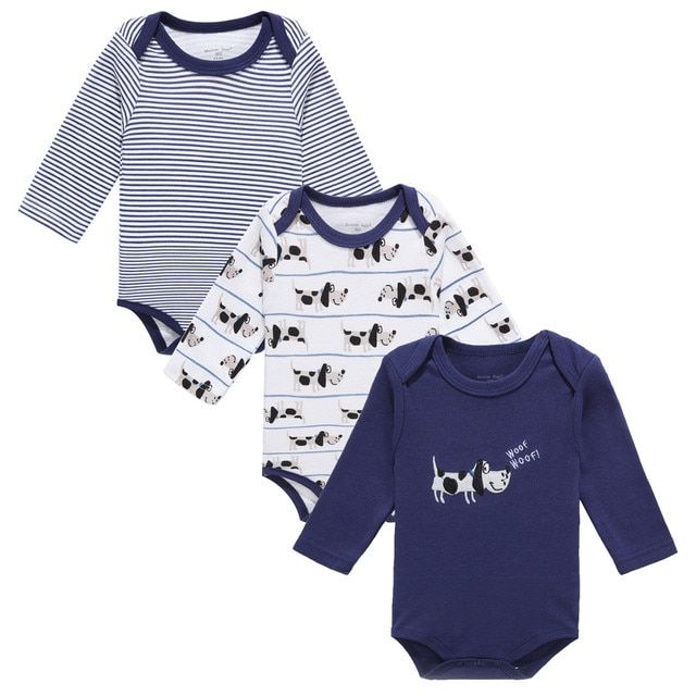 3Pcs/Lot Baby Romper Infant Romper Long Sleeve sprng autumn cartoon Jumpsuit Romper Baby Girl Boy Clothing for 0-12M