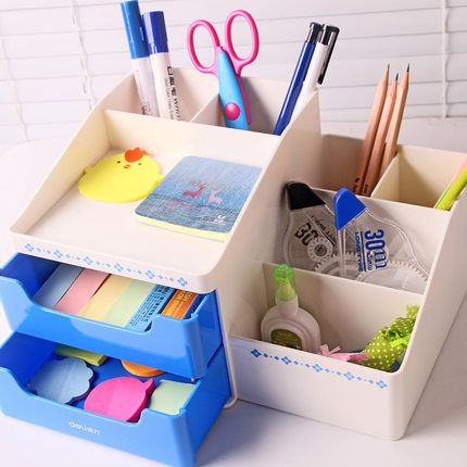 Simple Fashion Multifunction Desk Pen Holder Plastic Pencil Holder Office Desk Accessories Organizer For Pens