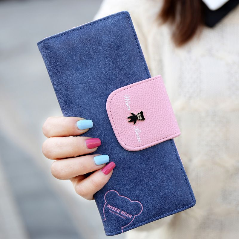 Long Wallets Women Cute Clutch Wallet Female Credit Card Phone Pocket Brand Hasp Money Purses Coin Pocket Ladies Bags
