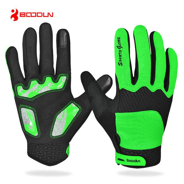 Boodun Winter Full Finger Cycling Bicycle Bike Gloves Sports Accessory road Mountain Bike Silicone Non-slip Breathable Gloves