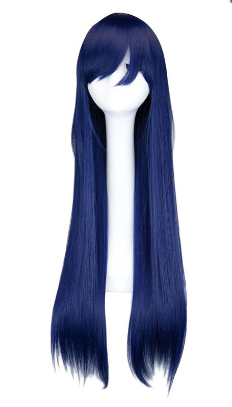 Cosplay Wigs For Love Live Sonoda Umi Anime Mixed Blue Hair Straight Long 80 Cm High Quality Synthetic Hair Wigs Peruca Pelucas