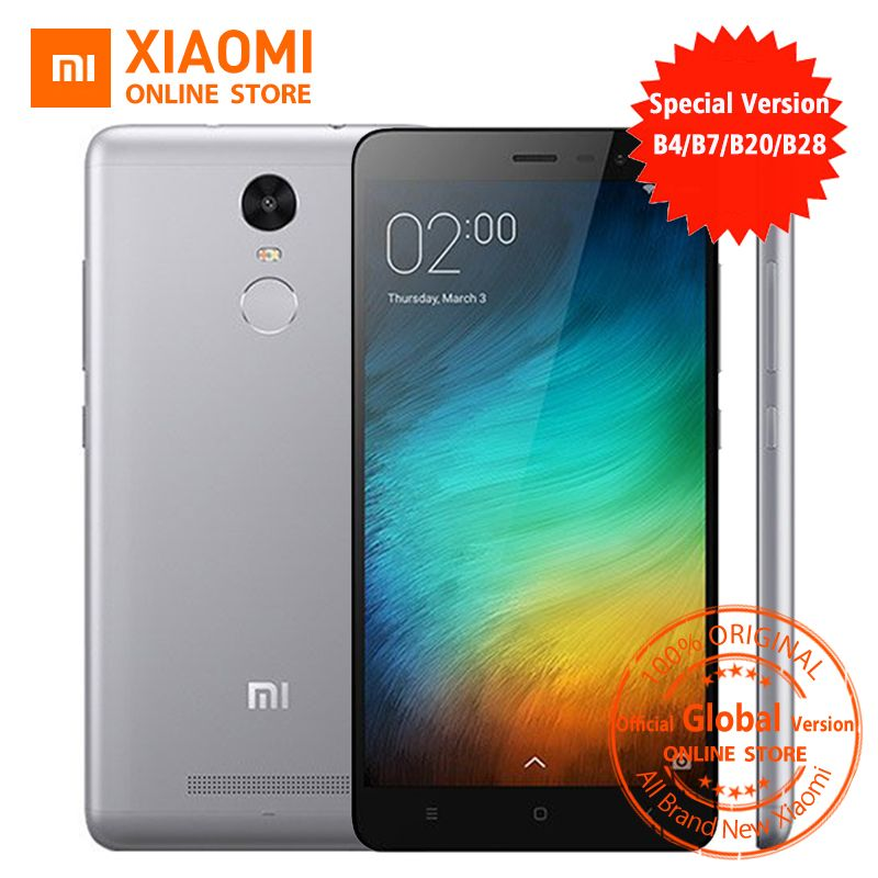 Official Global Version Xiaomi Redmi Note 3 pro prime special Edition Smartphone 5.5 Inch 3GB 32GB 16.0MP& B4 B20 B28 LTE