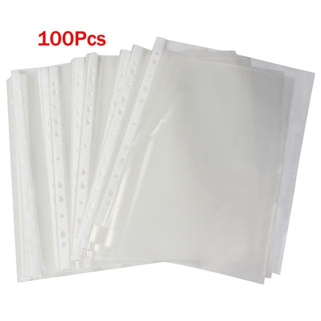 SOSW-Office A4 Papers Document Sheet Protector Clear White