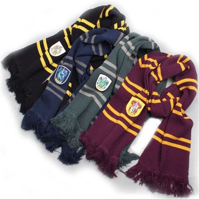 Halloween Cosplay Harri Scarf Scarves Gryffindor,Slytherin,Hufflepuff,Ravenclaw muffler potter scarf  for men and women