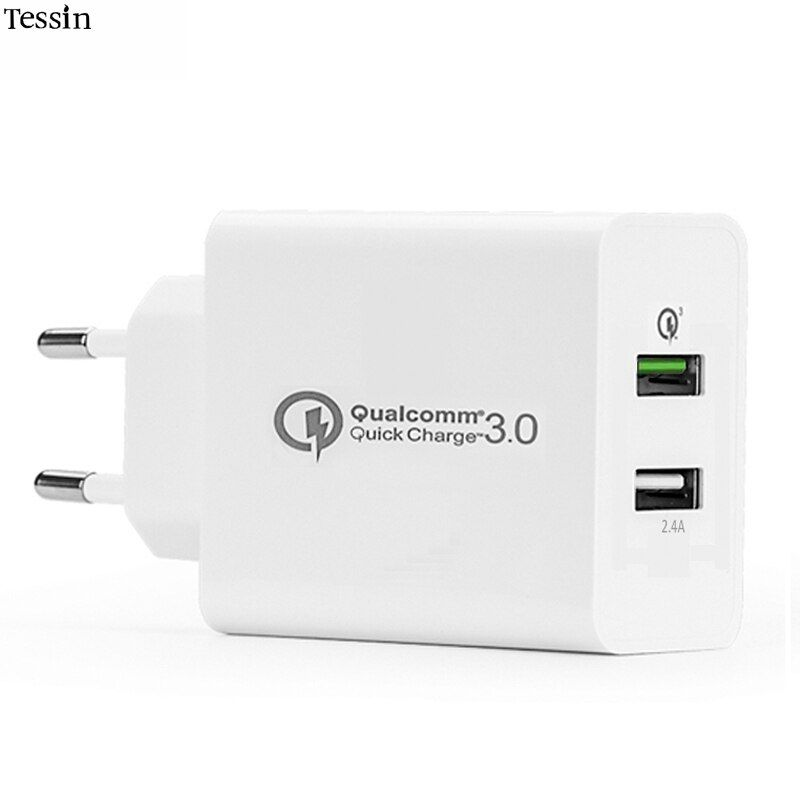 INGMAYA 2 USB Charger Qualcomm Quick Charge 3.0 30W 2.4A For IPone 5 6 6S 7 Plus IPad Samsung Galaxy S6 S7 Note 4 Edge Nexus 6