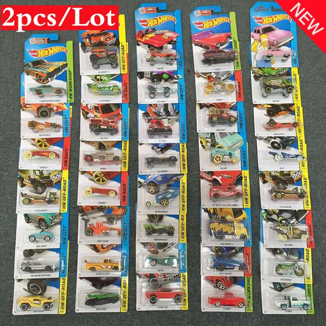 2pcs/lot  NEW Hot Wheels Metal Diecast Cars Collection Kids Toys Vehicle For Children Juguetes Children's Educational Toys 1:64