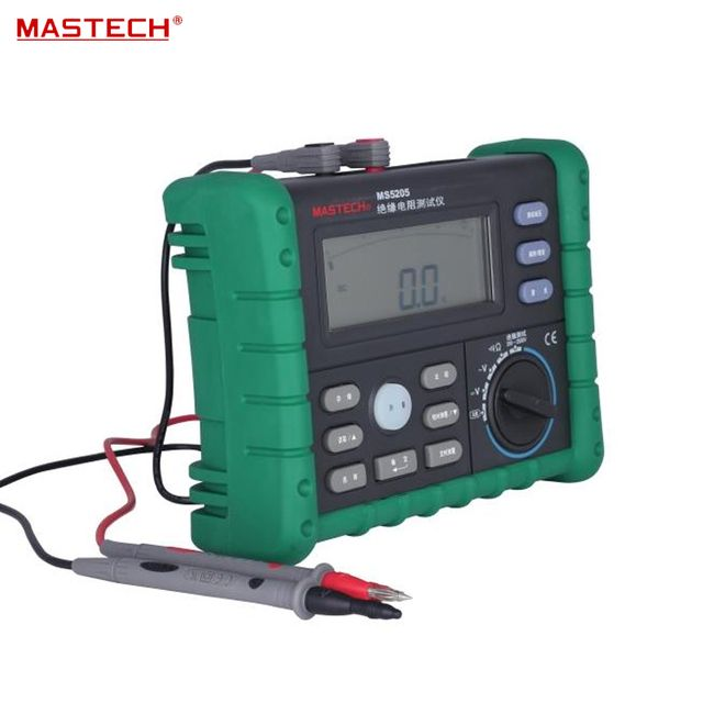 Portable High Quality Digital Megger 250V/500V/1000V/2500 Digital Insulation Resistance Tester MS5205