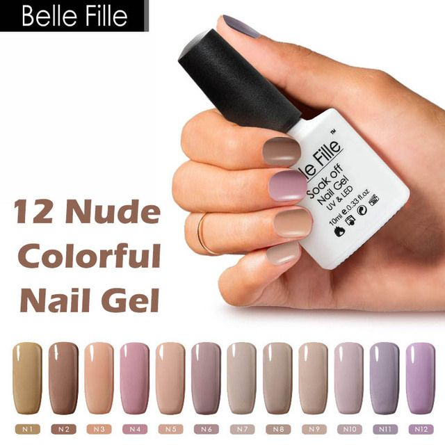 Belle Fille 10ml Coffee Khaki Nude Color Nail Polish UV Gel Lak Vernis Semi Permanent Wedding Party Makeup Women's Day Gift Tool