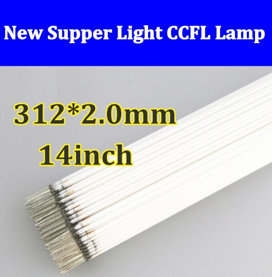 50PCS 312mm x 2.0mm 14' CCFL LCD Lamp LCD Backlight Lamp for 14.1 inch Free shipping Wholesale