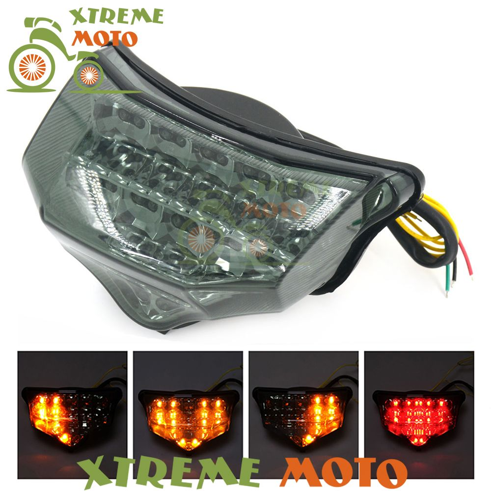 Motorcycle LED Rear Turn Signal Tail Stop Light Lamps Integrated For Yamaha FZ6 Fazer 600 2004 2005 2006 2007 2008 2009