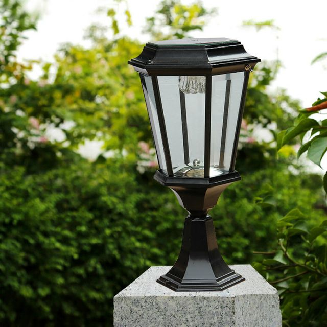 Retro Solar Stigma Light Aluminum Die-casting Highlight LED Garden Lights 2W Waterproof Lawn Light Black Automatic Charging