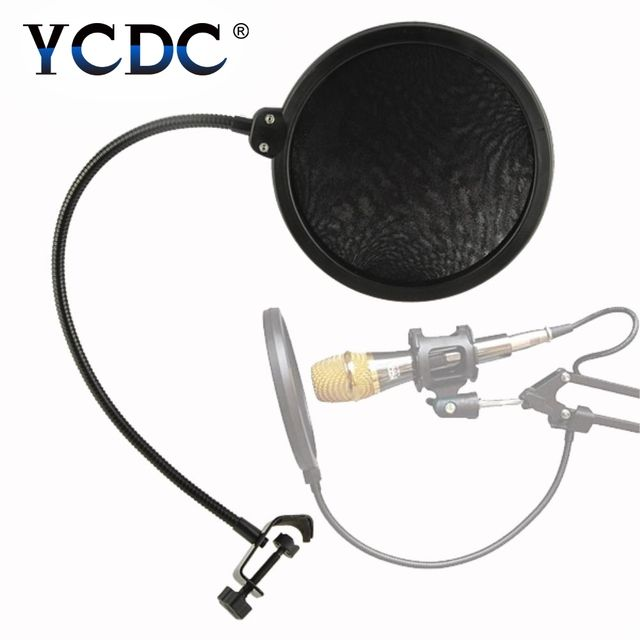 YCDC Double Layer Pop Filter Studio Microphone Mic Wind Screen Swivel Mount Mask Shied For Speaking Recording Hot sale EN4107