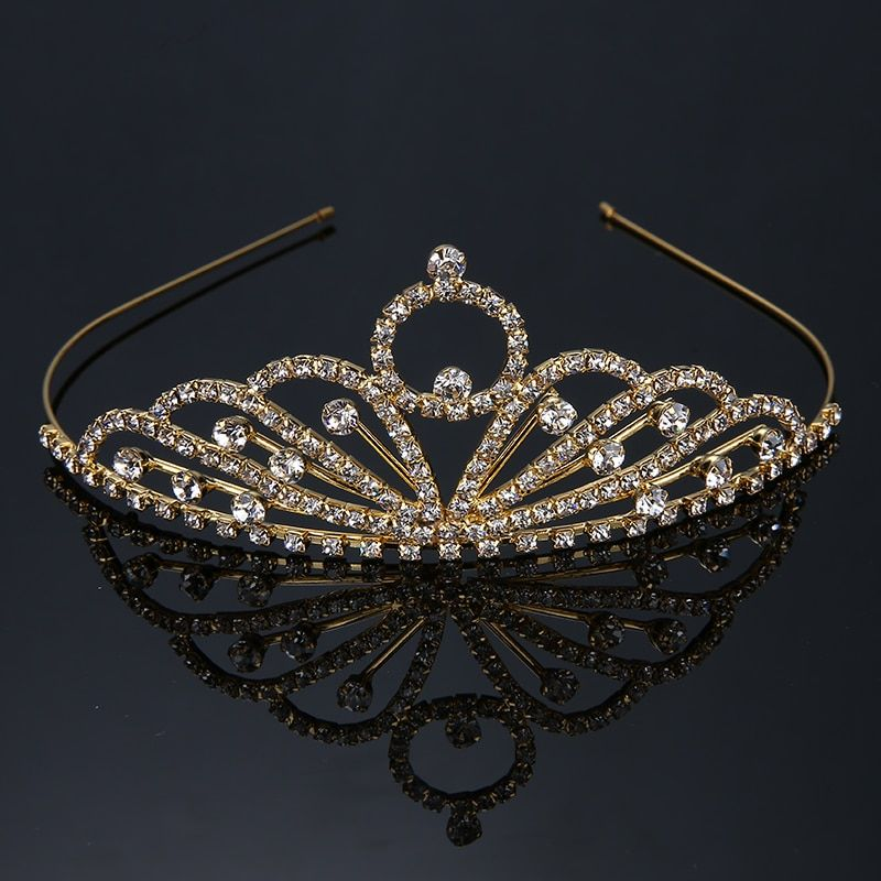 Princess Rhinestone Crown Tiara King Queen Quinceanera Wedding Crowns Banquet Pageant King Couronne Corona Jewelry 2017