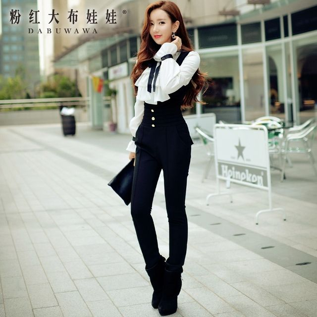 original fashion black long jumpsuit