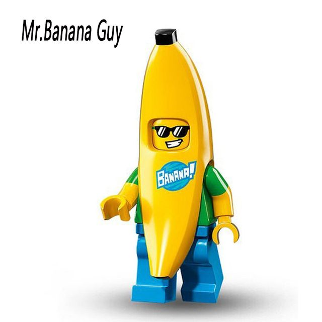 Single Sale PG963 Collectible Mr Banana Guy Cartoon Toys Building Blocks Children Christmas Gift Toys 71013