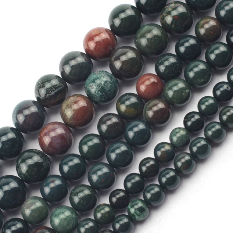 round natural heliotrope/ bloodstone beads natural stone beads DIY loose beads for jewelry making strand 15 inches wholesale !