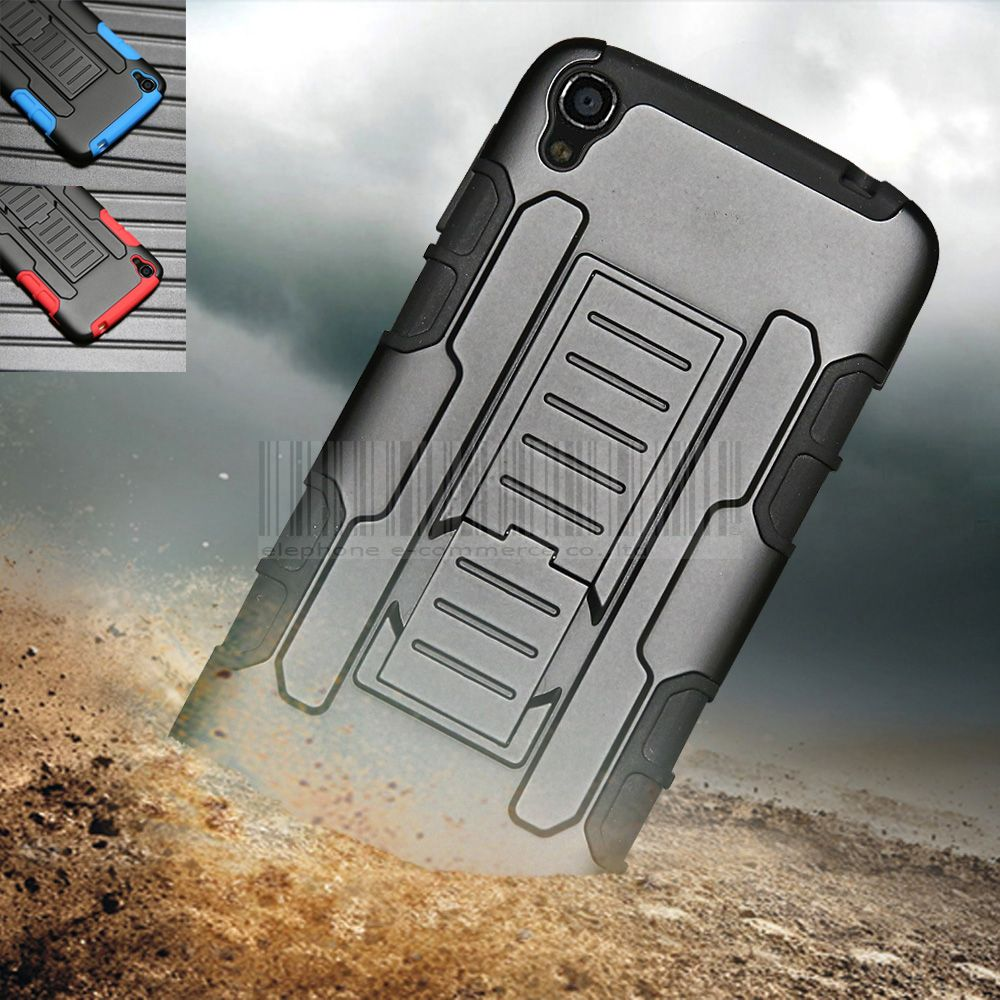 Heavy Duty Armor Shockproof Hybrid Impact Case Cover With Holster+Belt Clip For Alcatel One Touch Idol 3 5.5 6045 6045Y 6045K