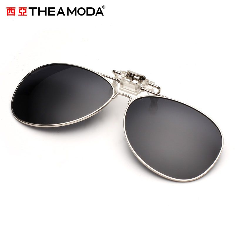 THEAMODA 2016 Brand clip on Polarized Sunglasses men women Aviation clear Fashion Polarized Glasses For Fishing Driver TMAP-0009