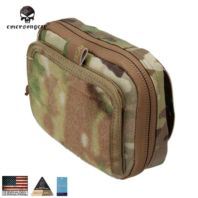 Emersongear ADMIN Multi-purpose Map Bag Emerson Tactical Pouch Military Army MOLLE Combat Gear EM8506 Genuine Multicam