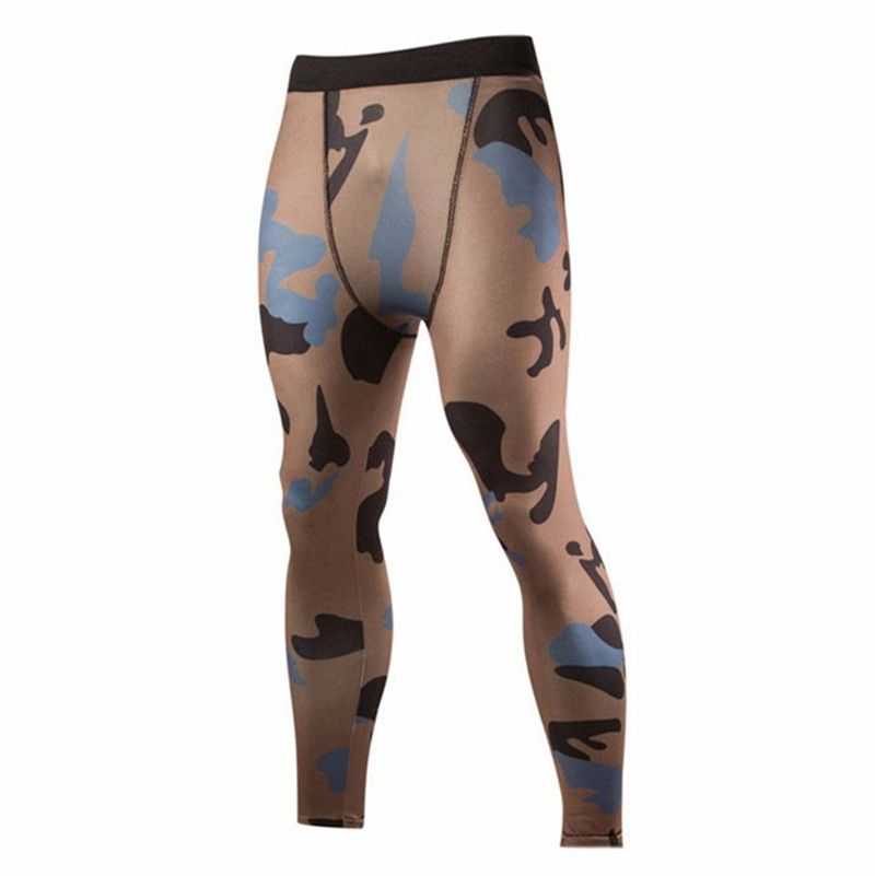 High Quality 2016 New Fashion Compression Pants Men Leisure Tights Men Pants Camouflage Print Trousers M-XXL