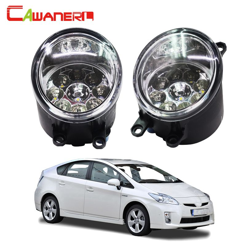 Cawanerl H8 H11 Auto Fog Light DRL Daytime Running Light Car LED Lamp Bulb For Toyota Prius Hatchback (ZVW3_) 1.8 Hybrid 2009-