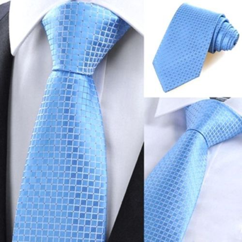 Colorful Checks Jacquard Woven Men's Tie Necktie Wedding Party with Party Ties