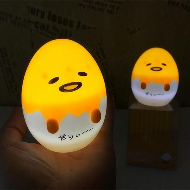 Yolk Night Light Cute Egg LED Lamp Baby Night Light Toys Christmas Gift Switch Lamp Battery Powered For Kids Decorate Table Lamp