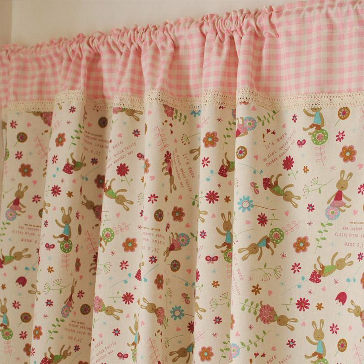 Korean lace stitching cloth kitchen table Sin hand half-curtain stylish modern home cafe curtains