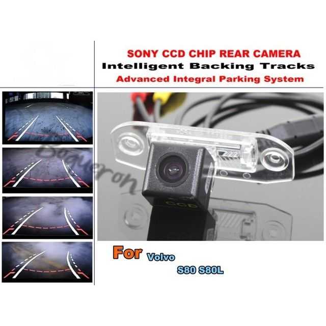For Volvo S80 S80L Car Intelligent Parking Tracks Camera / HD Back up Camera / Rear View Camera Dynamic Guidance Tragectory