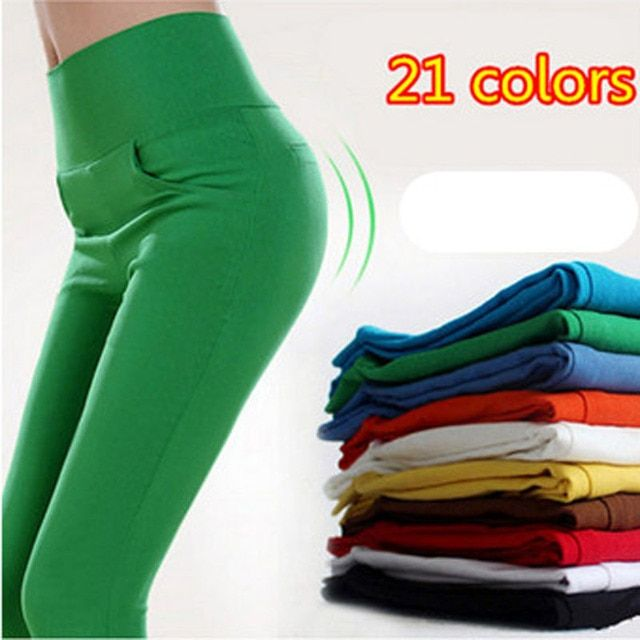 2016 Candy Color pencil pants skinny women pants women With 4 Pockets Trousers Fit Lady Jeans leggings plus size  S-XL trousers